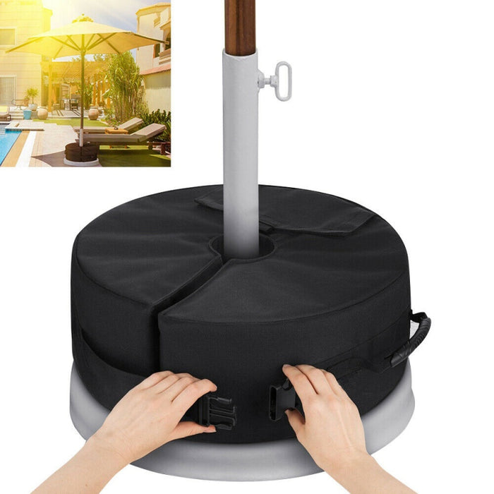 Umbrella Weight Bag Weatherproof Parasol Umbrella Heavy Duty Sand Bags Stand Base For Outdoor Patio Offset Cantilever Umbrellas - Shoppersbase