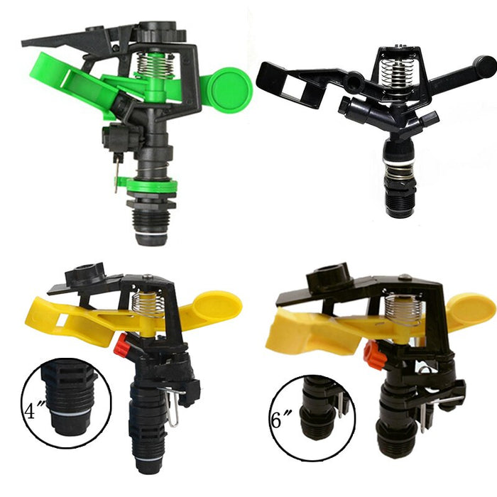 1Pcs Garden Irrigation Sprinkler 360 Degree Adjustable Plastic Spray Nozzle - Shoppersbase