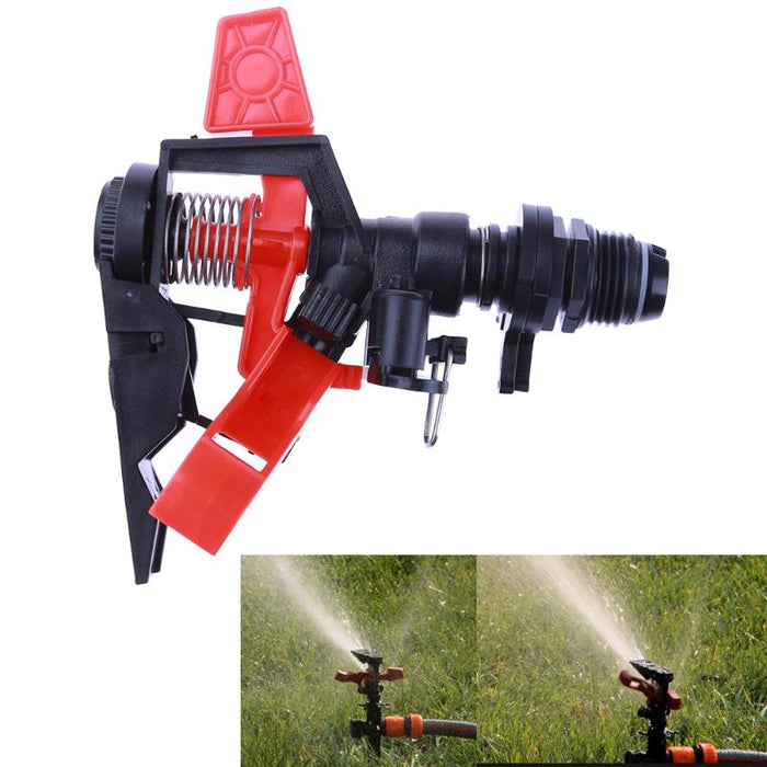 360 Adjustable Impact Sprinkler Spray Gun Large Area Water Irrigation Tool plastic  Garden Sprinkler E5M1 - Shoppersbase