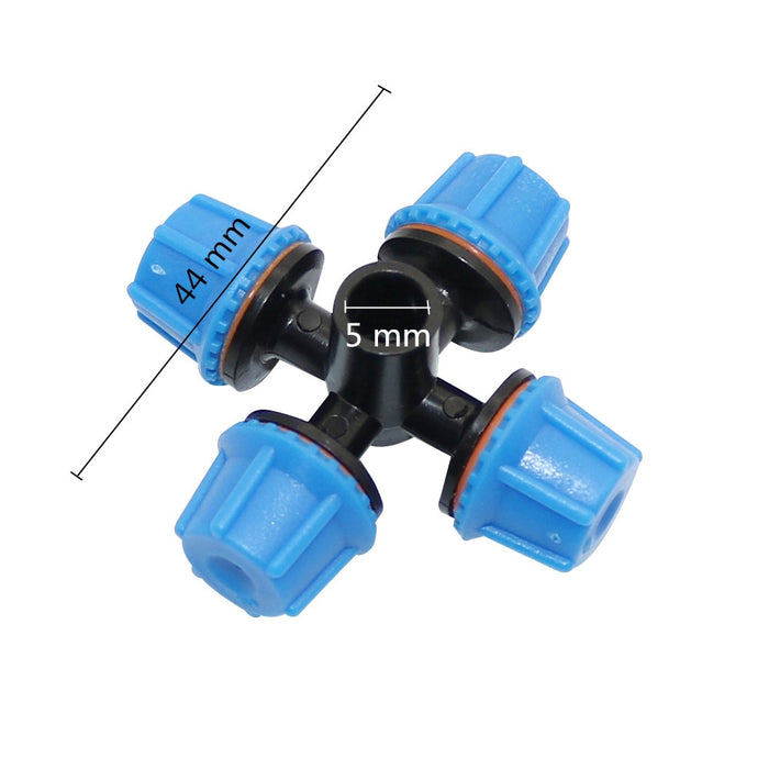 5 Pcs 6mm Cross Mist Nozzle with seal ring Garden Sprinklers Irrigation Industry Farm Dust removal cooling Sprayers - Shoppersbase