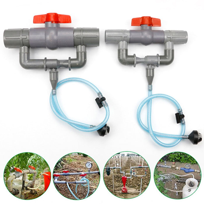 32/40/50/63mm Venturi Tube Gardening Irrigation Fertilizer Rotating Sprinklers Refract Water Saving Garden Irrigation Sprinkler - Shoppersbase