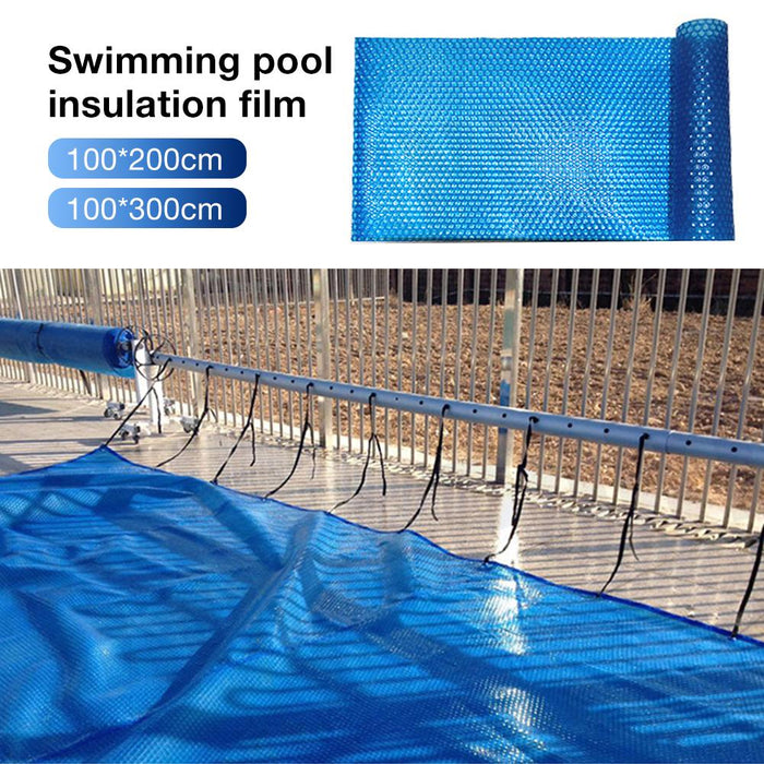 High-quality Solar Swimming Pool Cover Easy Set Dustproof Durable Swimming Pool Cover Blue Swimming Pool Accessories - Shoppersbase