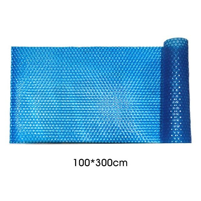 100 x 200cm/100 x 300cm Solar Customize Swimming Pool Cover Easy Frame Pools And UV Protected Dust Proof Pond Cover Blue - Shoppersbase