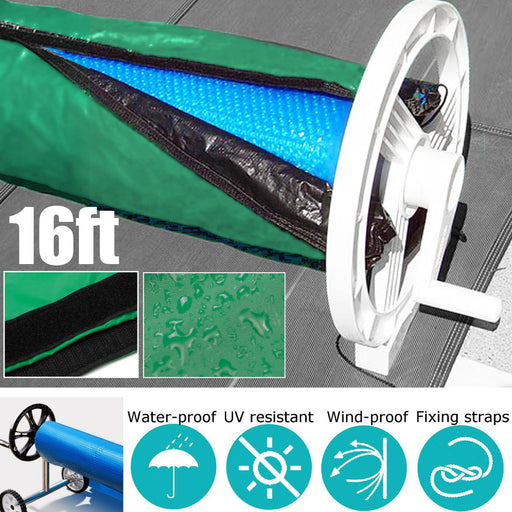 16x3.15ft Dustproof Solar Blanket Winter Cover For Swimming Pool Solar Roller Reel Waterproof Anti-UV Up To 16' Wide - Shoppersbase