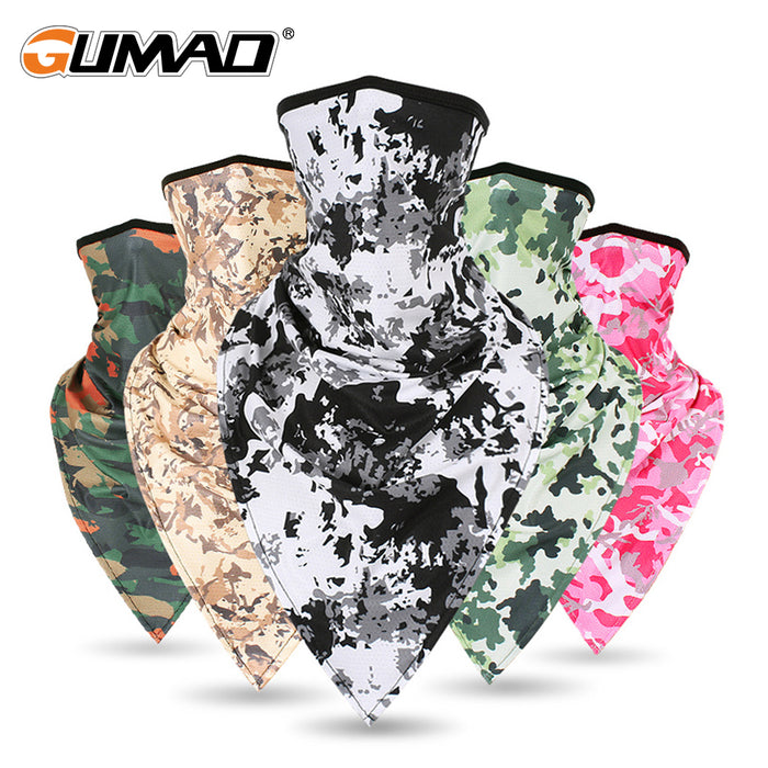 Men Girl Windproof Tactical Ski Camo Triangle Neck Gaiter - Shoppersbase