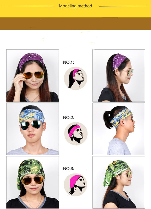 3D Fashion Print Headscarf Women Neck Gaiter Cartoon Colorful Pattern - Shoppersbase