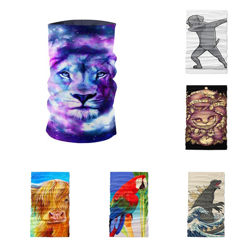 Novelty Tubular Seamless Magic Multi functional Scarf Cycling Bandana Unisex Outdoor Sports Camouflage Designer buff - Shoppersbase