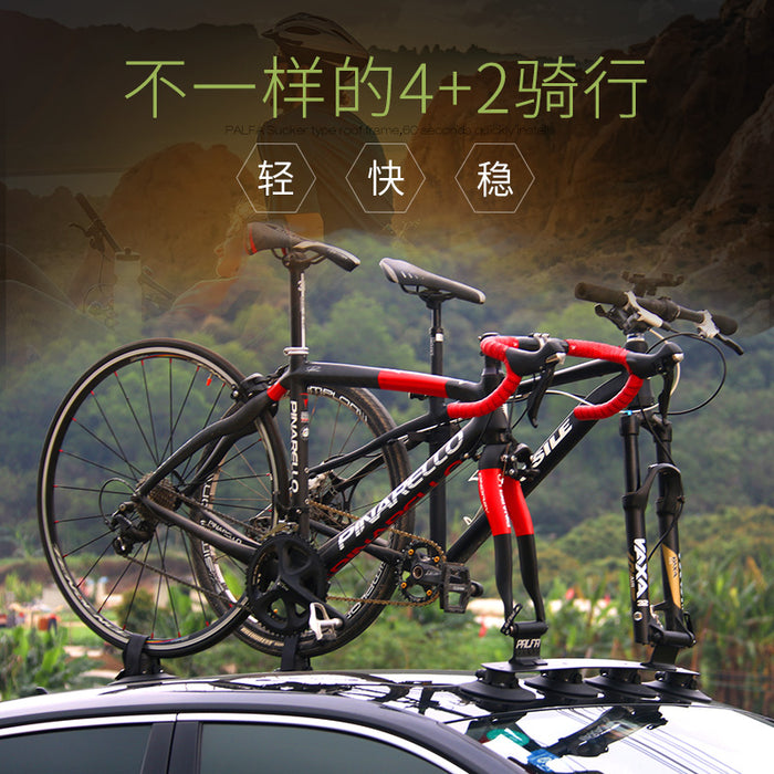 PALFA Bicycle Carrier Car Racks Suction Cups Roof-Top Trunk Bike Roof Holder Quick MTB Mountain Road Bike Accessory - Shoppersbase