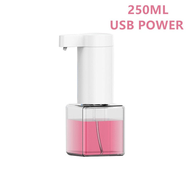 250/300/350ml Soap Dispenser Smart Automatic Foam Infrared Sensing Touchless Induction Liquid Foaming Hand Washer Bathroom Kitch - Shoppersbase