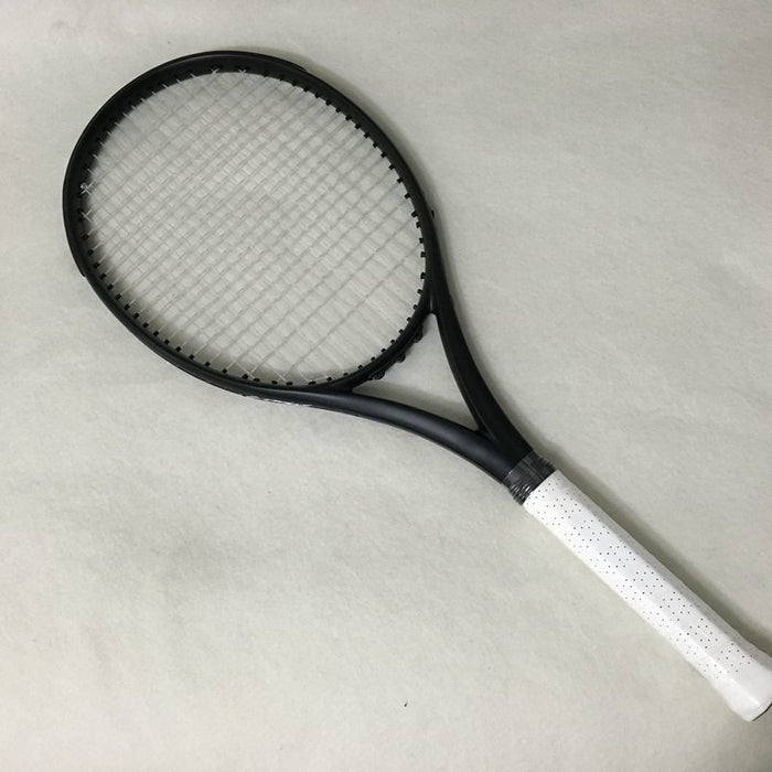 100% Carbon Fiber Tennis Racket Taiwan OEM 300g Nadal 100 sq.in. Black - Shoppersbase