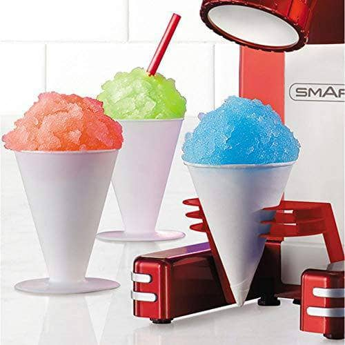 Smart RSM702 Retro Single Snow Cone Red Slush Slushie Maker Shaved Machine Crushed Ice Drinks, Metal - Shoppersbase