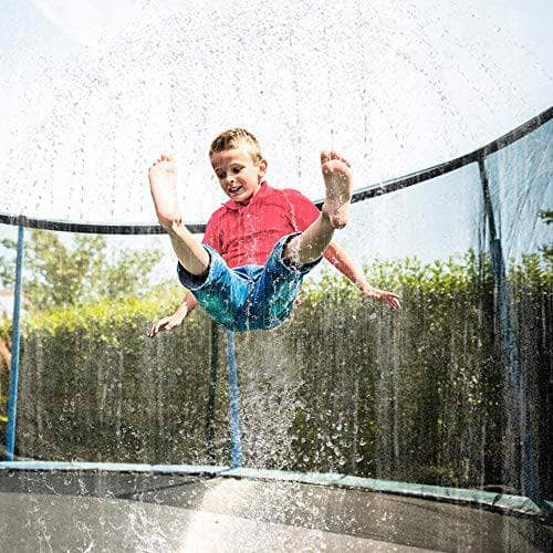 TopHGC Trampoline Sprinklers, Waterpark for Kids, Outdoor Water Play Sprinklers for Fun Summer