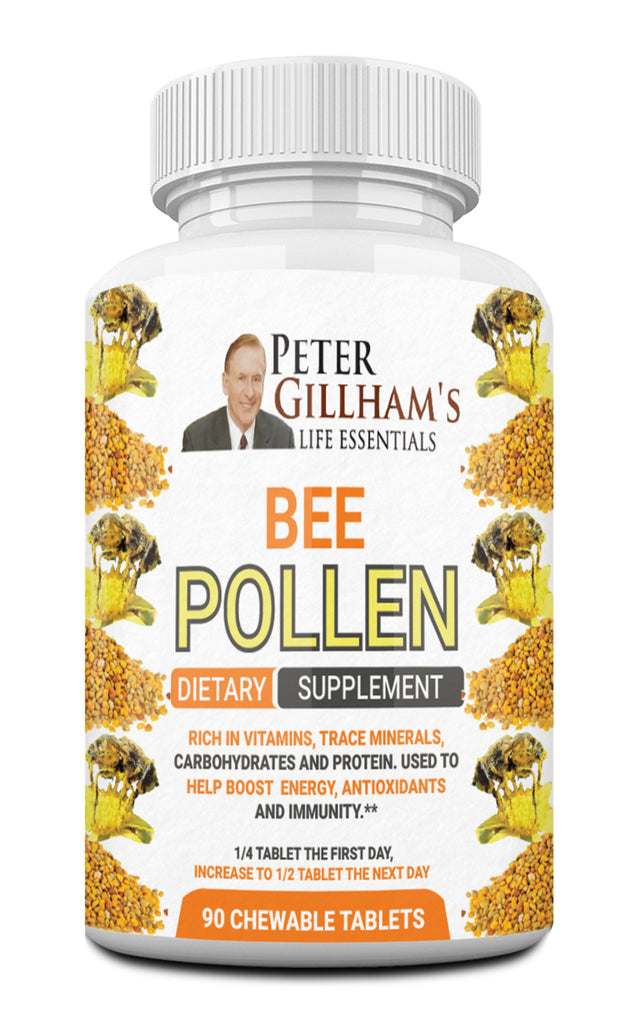 Bee Pollen 520mg, 90 Chewable Tablets