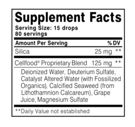 Buy Cellfood Essential Silica Formula, 4 oz | Peter's Choice