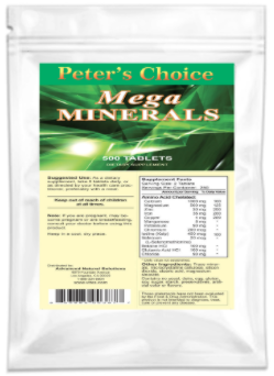Buy Mega Minerals, Tablets Online  Peter's Choice