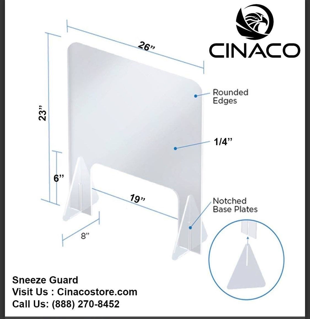 Portable Plexiglass Shield 23