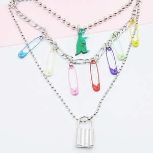 Safety Pin Fun Necklace
