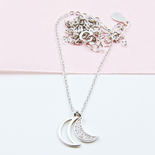 Load image into Gallery viewer, Double Moon Necklace