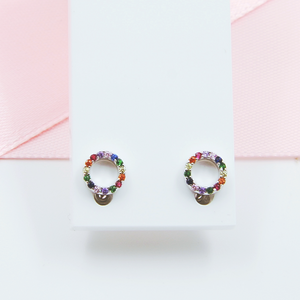Colour Circle Earrings