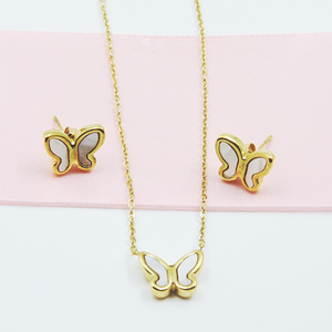 Butterfly Earring & Necklace Set