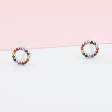 Load image into Gallery viewer, Colour Circle Earrings