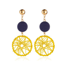 Load image into Gallery viewer, Wooden Dreamcatcher Earrings (Various Colours)