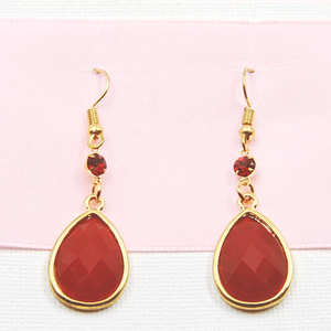 Magenta Drop Earrings