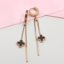 Load image into Gallery viewer, Rose Gold and Black Cross Hoop Earrings - Gorecki Gifts