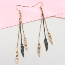 Load image into Gallery viewer, Feather Dangle Earrings - Gorecki Gifts