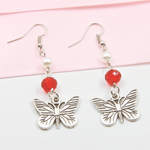 Load image into Gallery viewer, Vintage Butterfly Earrings