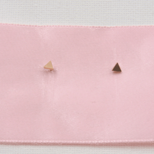 Dainty Rose Gold Triangle Studs - Gorecki Gifts