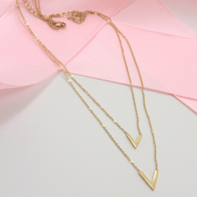 Load image into Gallery viewer, Gold Plated V Layer Necklace - Gorecki Gifts