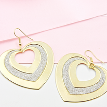 Load image into Gallery viewer, Frosted Heart Earrings