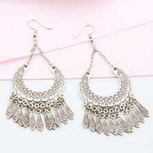 Load image into Gallery viewer, Bohemian Crescent Earrings