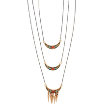 Load image into Gallery viewer, Beaded Triple Layer Necklace