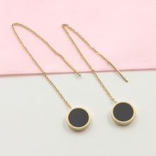 Load image into Gallery viewer, Gold Plated Circle Threader Earrings - Gorecki Gifts