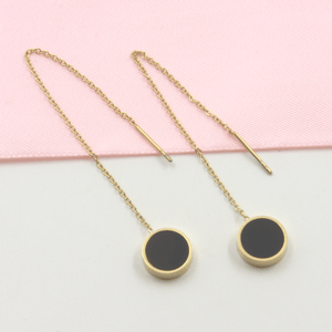 Gold Plated Circle Threader Earrings - Gorecki Gifts