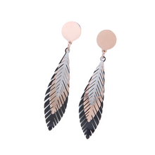 Load image into Gallery viewer, Tricolour Leaf Earrings