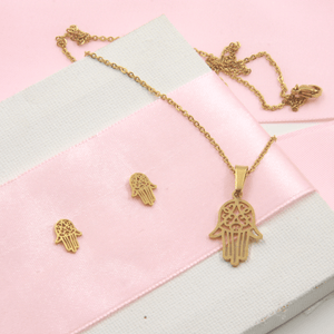 Gold Plated Hamsa Set - Gorecki Gifts