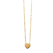 Load image into Gallery viewer, Gold Plated Heart Necklace