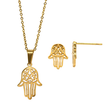 Load image into Gallery viewer, Gold Plated Hamsa Set