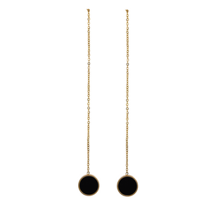 Gold Plated Circle Threader Earrings
