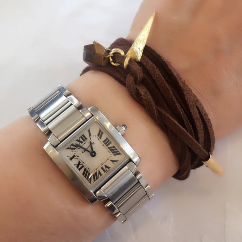 wrap with natural stone with watch
