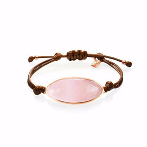 Lattice Corded Bracelet - rose quartz