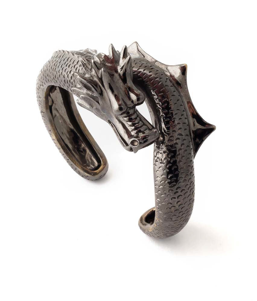 Dragon With Tail Cuff - black