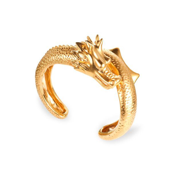 Dragon With Tail Cuff - gold