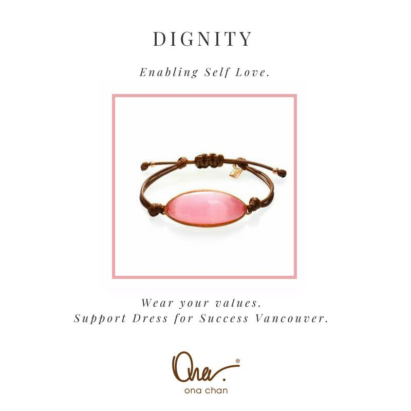 Dignity Pink Cat's Eye Resin Values Bracelet