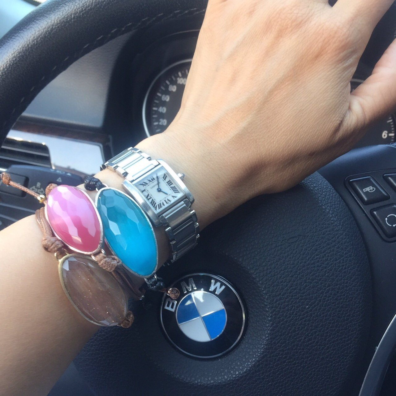 Bracelet - Dress For Success Vancouver | Values Bracelets on wrist while driving