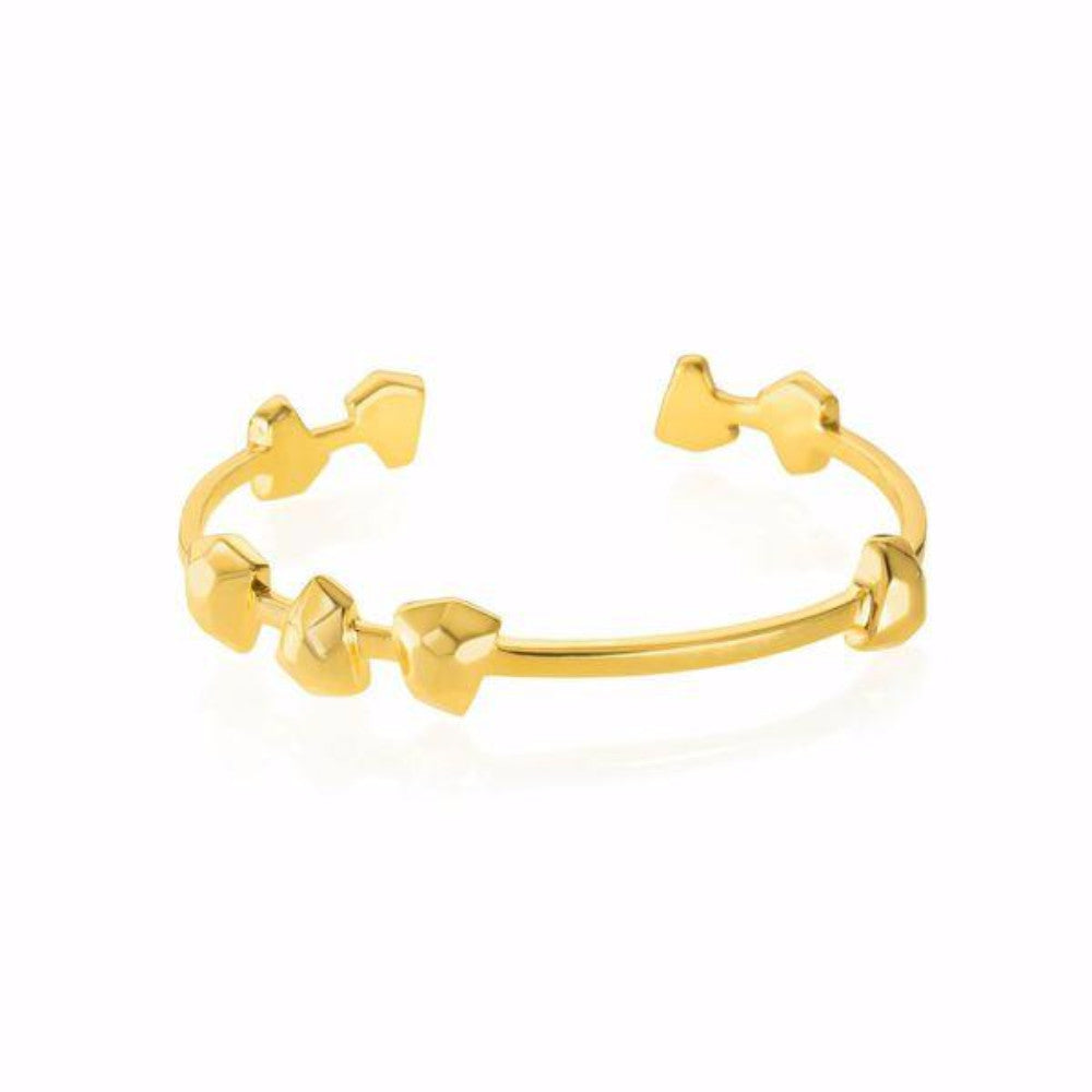 Lattice Boyfriend Cuff Gold