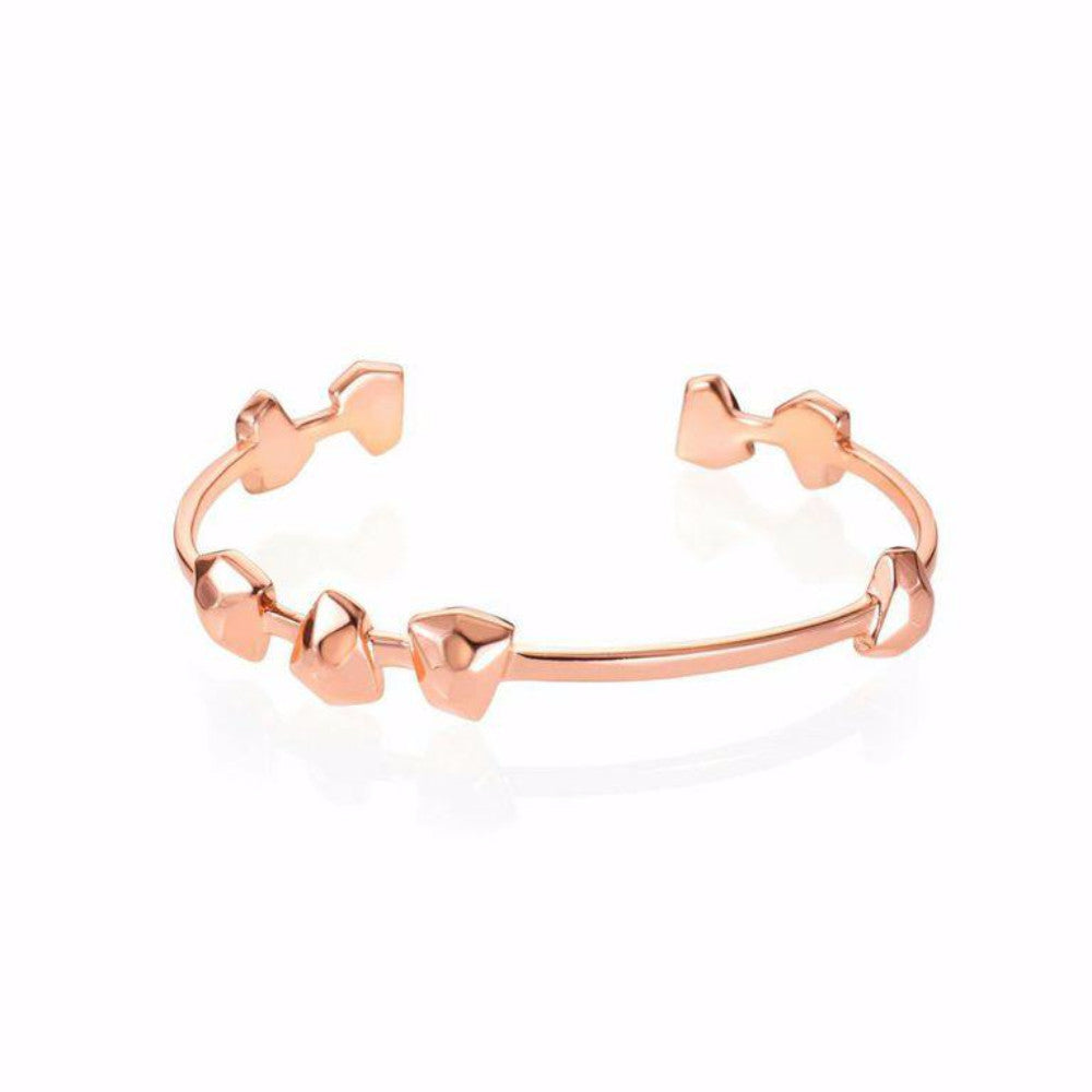 Lattice Boyfriend Cuff Rose Gold